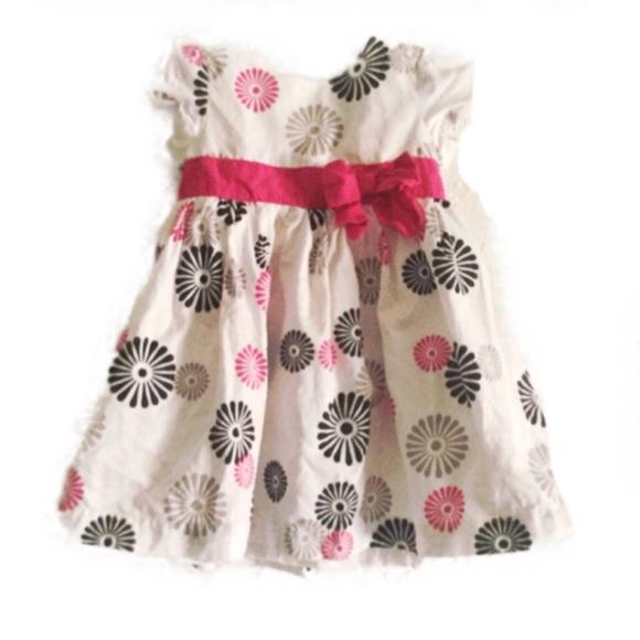 6 Months Carters Girls S//S White Glitter Flower Heart Tee